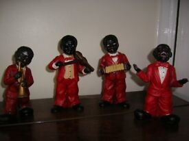 Set of 4 blues band figures