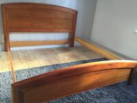 Super king size bed in gorgeous wood