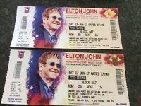 Elton John tickets (2) Ipswich Sat 17/6 5pm