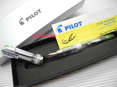 Tracking No. Pilot Fprn-350r Prera Fine Fountain Pen 6 Cartridges Light Green