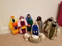 Hand knitted Christmas nativty set