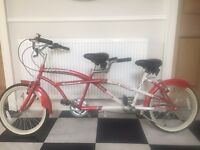 AMMACO TEAMWORK CHILD'S TANDEM BIKE BICYCLE 7 SPEED SHIMANO EQUIPPED CRUISER