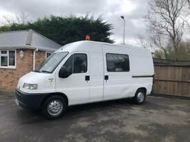 2001-51-reg fiat Ducato 2.8JTD only 42,000 miles 6seater day van ex crown owner ideal camper