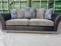 SALE!!! NEW DFS Amelle 3 Seater Sofa Grey Black DELIVERY AVAILABLE