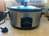 5.5L slow cooker from Cookworks, used less than 6 months, in excellent condition