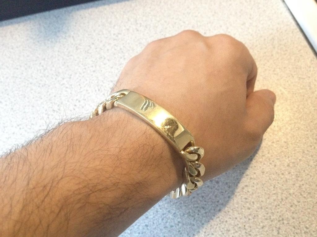 "9ct Gold ID Bracelet, 69g, 8"""