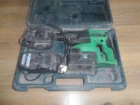 Hitachi DH24DVC SDS Plus Hammer Drill 3 Mode 24V 2 x 2.0Ah NiMH