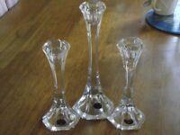 Bohemia Crystal candle sticks