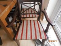 2 DINING TABLE CHAIRS GOOD CONDITION 07831113938