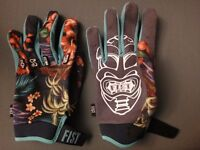 Premium quality MX/BMX/MTB fitted gloves - Fist Handwear Hula pattern (size Large)