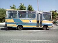 Left hand drive FIAT IVECO OM 55 29 seats bus.