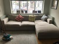 Large FREE Sofa Couch Left Hand Facing Arm, Open end.