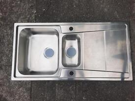 B&Q Cooke & Lewis stainless steel kitchen sink BRAND NEW 1.5