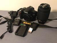 Nikon D3200 24.2MP Digital SLR Camera - Black (w/ AF-S DX 55-200mm Lens)