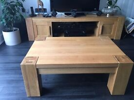 Coffee table small solid oak living room furniture