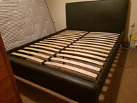 King size bed with headboard and mattress