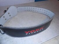 York Leather Weightlifting Belt - Plymouth