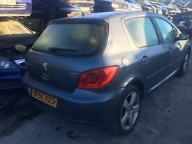 2006 PEUGEOT 307 SPORT HDI (MANUAL DIESEL)FOR PARTS ONLY