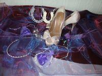 Size 3 Kurt Geiger size 3 satin wedding shoes