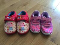Peppa Pig trainers and slippers infant size 7