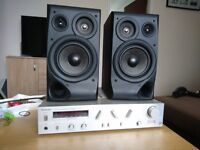 Amplifier Technics Su v3 with speakers
