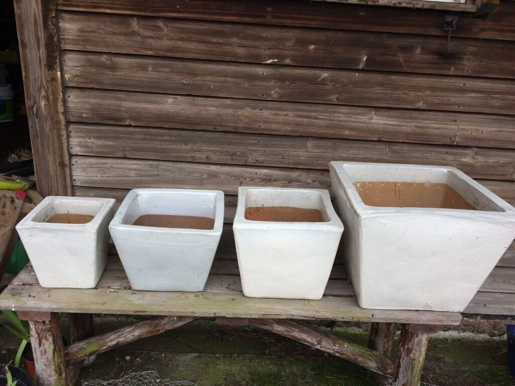 Ikea Cream Glazed Terracotta Pots