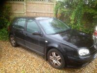 2003 vw golf 5 door hatchback in met black new mot needs a good clean hence