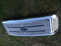 FORD SUPER DUTY GRILL WITH STAINLESS WINTER FRONTS