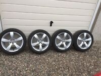 Audi A1 As New Alloy Wheels and Winter Tyres 195/50 R16 - 5 by 100 bolt pattern