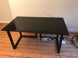 Habitat Black Glass Desk £150