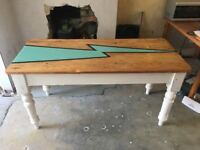 Chunky Farmhouse Painted Dining Table Lightning Design