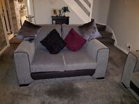 Three seater sofa and two seater and large buffet