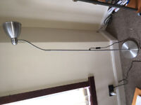 Silver satin floor lamp -ideal for studies or living room. ONLY £15