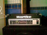 HARTKE 3500 BASS AMP HEAD WITH PEAVEY BLACK WIDOW SPEAKER