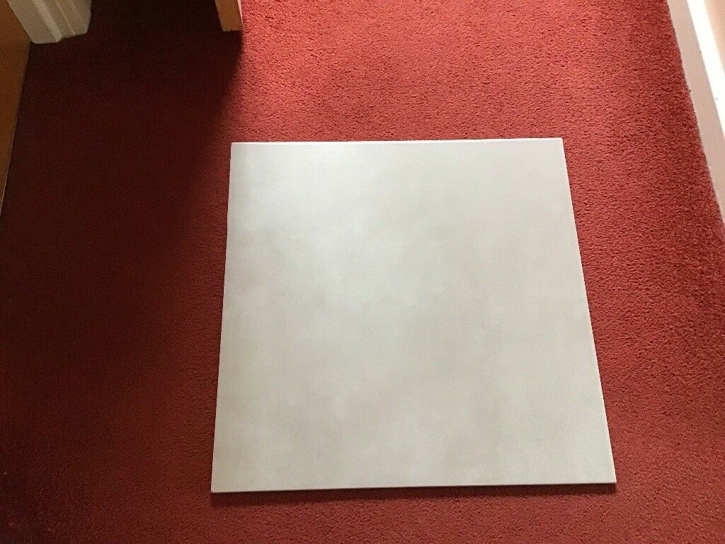 6 X Large Stone Coloured Floor Tiles Square Shaped 500mm Each Which