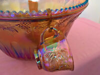 Vintage punch bowl in iridescent Carnival glass