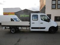 ONE owner Vauxhall Movano 2.3CDTI L3H1 LWB dropside Double Cab with 7 seats (1)