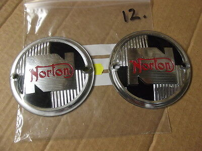 NORTON ES2  M50 DOMMINATOR PETROL TANK BADGES , NEW 12