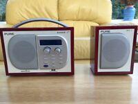 Pure Evoke-1 XT DAB Digital Stereo Radio - Mahogany Wood Effect