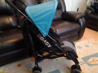 OBABY PUSHCHAIR WITH FOOTMUFF & NEW RAINCOVER**FREE DELIVERY HULL**