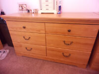 Chest of 6 Drawers & Optional Bedside Table