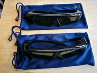2 pairs of Samsung Active 3D TV glasses
