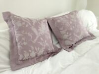 2 elegant Laura Ashley cushions with a soft border