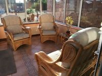 Oak conservatory suite.