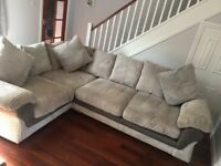 *Grey right hand corner sofa, great condition *
