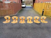 6 Contemporary Dining Office Kitchen Chairs FREE DELIVERY 487