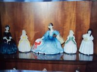 Royal Doulton x 5 Lady Figurines