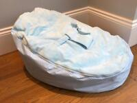 Baby bean bag blue immaculate as never used