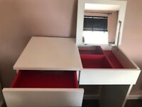 White ikea brimnes dressing table
