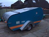 Unique handcrafted Teardrop Caravan